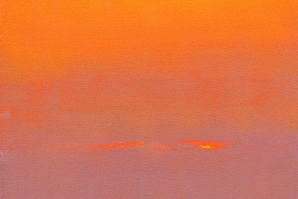 PRAYER BEFORE DAWN, 2007, oil on canvas, original media, 60 х 60 cm.