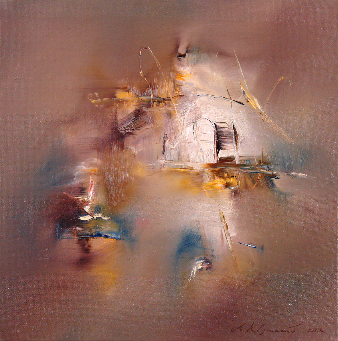 INNER LIGHT, 2013, oil jn canvas, 80 x 80cm. Private collection
