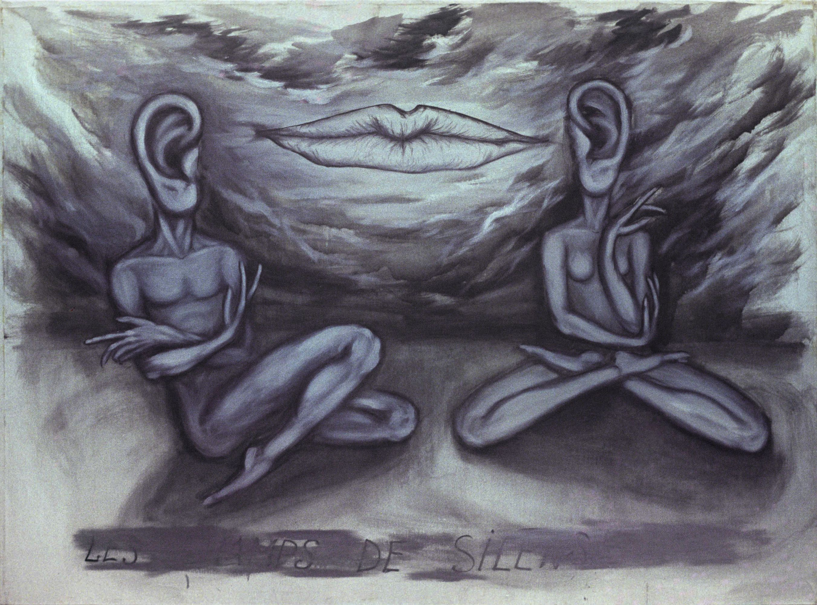 FIELDS OF SILENCE, 1991, oil on canvas, 150 x 200 cm.