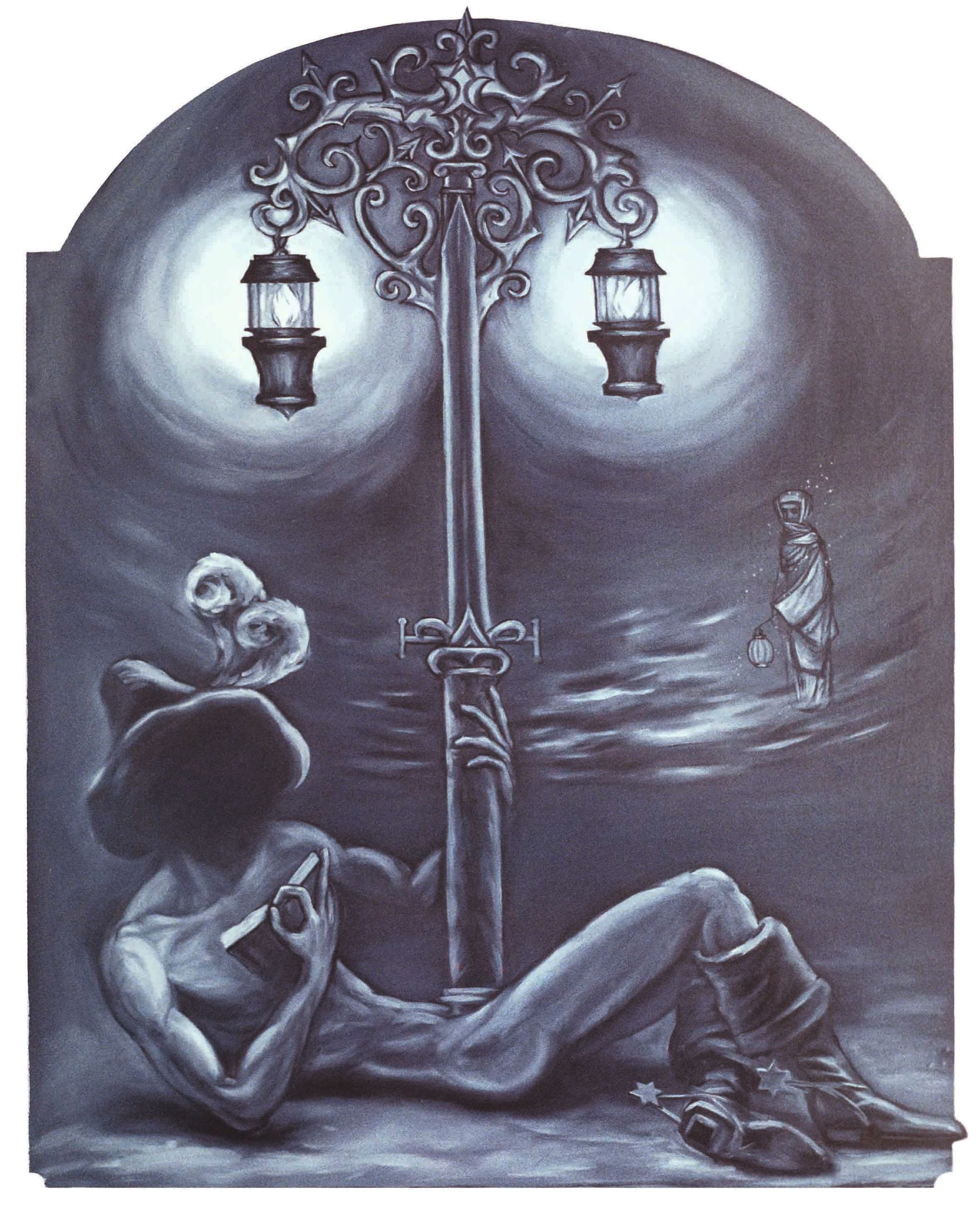 ASKING ABOUT INTENDED LOVE, 1990, oil on canvas, 150 x 200 cm.