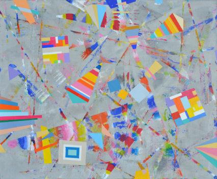 CHILDREN'S PLEASURES 1, 2018 acrylic on canvas, original media; 40 x 50 cm