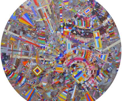 INFINITE DIVERSITY, 2018 acrylic on canvas, original media; d=120 cm