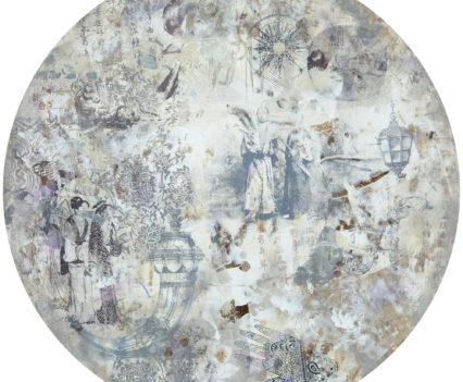 SAMURAIS, 2018 acrylic on paper, original media; d=56 cm