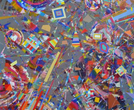 WONDERFUL ADVENTURES, 2018 acrylic on canvas, original media; 120 x 110 cm