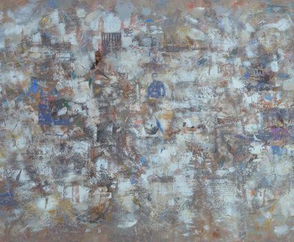 MODIGLIANI 2018 acrylic on canvas, original media; 80 x 120 cm Private collection