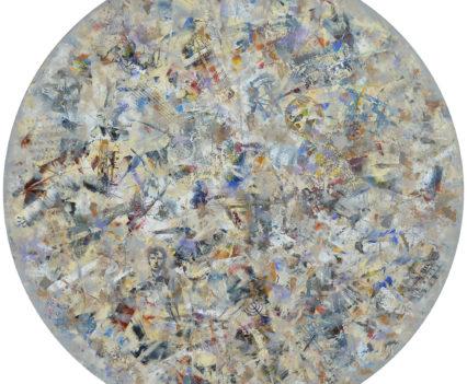 OSIP MANDELSTAM. POET AMONG THE WORLDS, 2018 acrylic on canvas, original media; d=120 cm