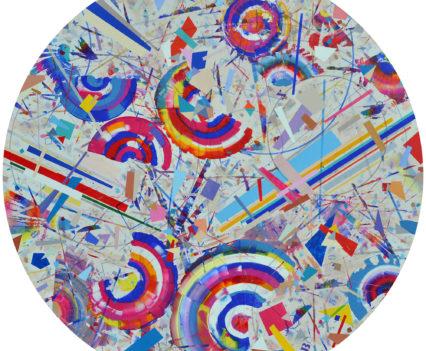 INEXHAUSTIBLE SOURCE OF JOY, 2016-2018 acrylic on canvas; d=110 cm