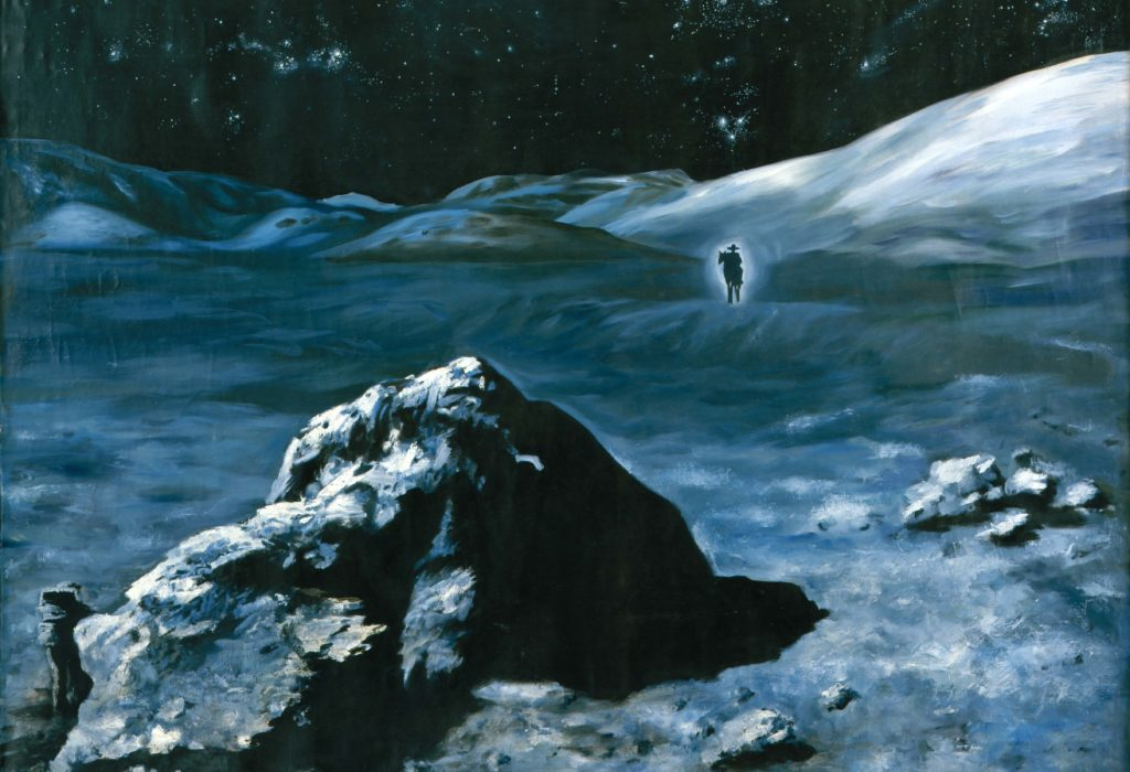 MOON COWBOY, 1991, oil on canvas, 250 x 200 cm.