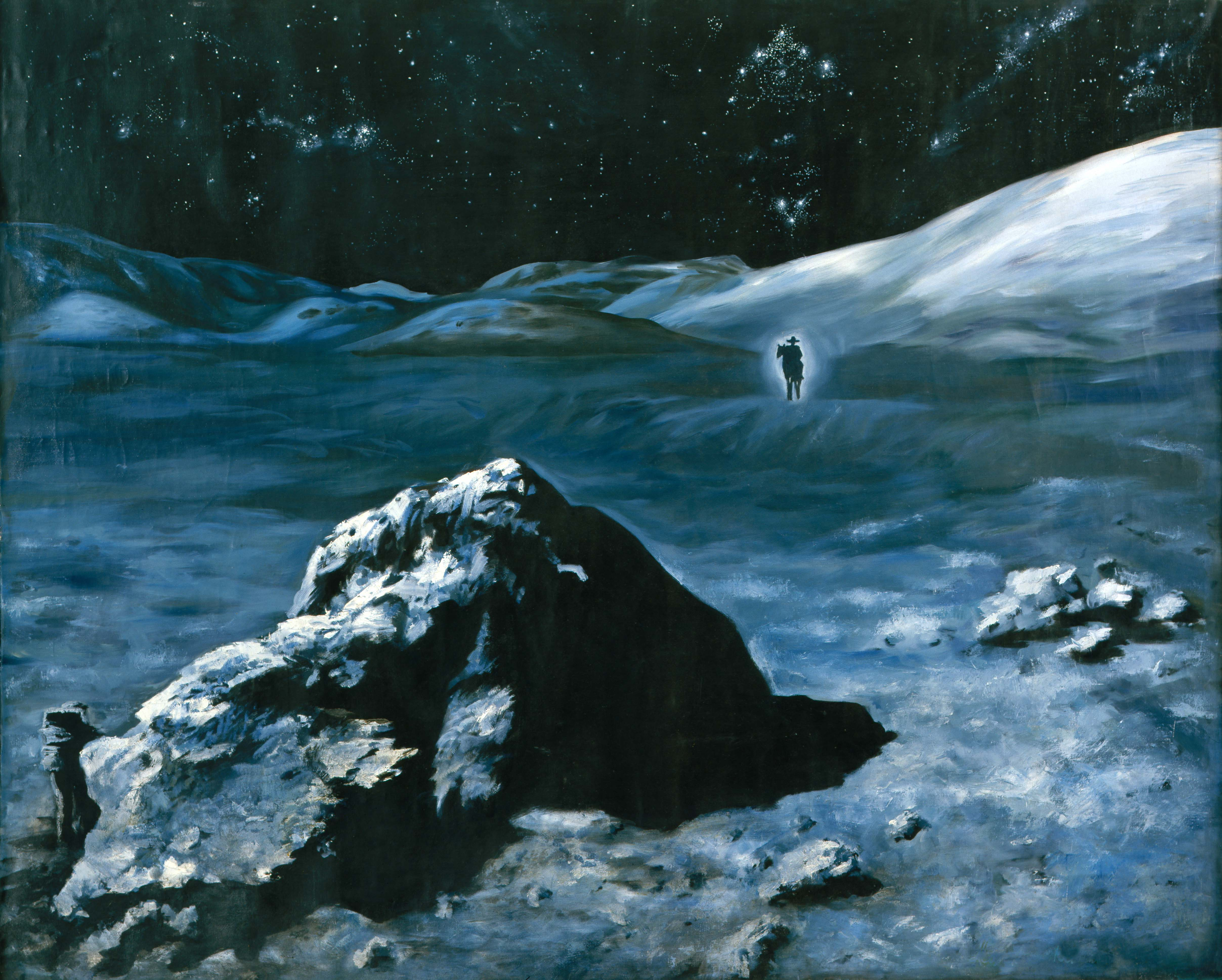 MOON COWBOY, 1991, oil on canvas, 250 x 200 cm. Private collection