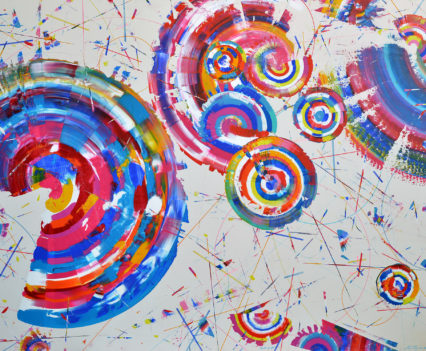TRIUMPH OF THE RADUGEMS, 2017 acrylic on canvas, original media; 150 x 200 cm