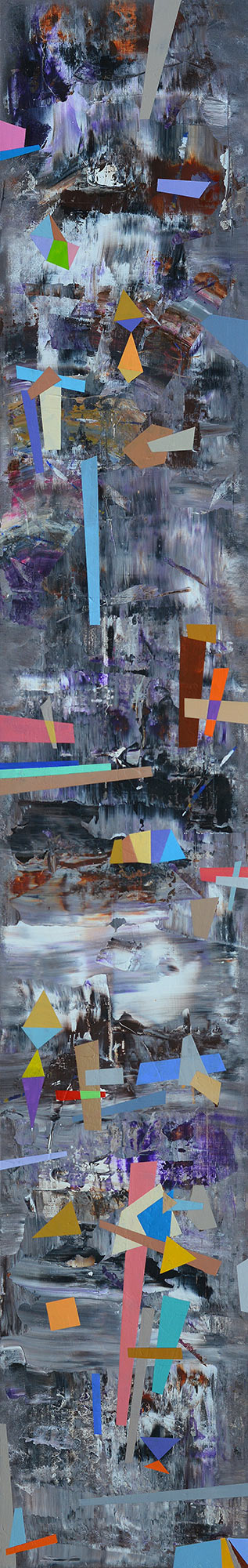 AMBITION, 2017 acrylic on canvas; 145 х 25 cm