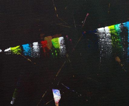 RAY OF CREATION 3, 2016, acrylic on canvas, original media; 30 x 30 cm.